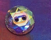 Shirt Button Swarovski Elements Crystallized 3014 14mm Faceted Shirt Button Crystal AB