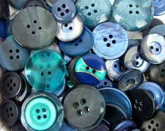 Buttons Galore Haberdashery Classic Blues Blue Button Collection Mix Trims Embellishments