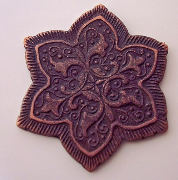 Shank Button Antiqued Copper JHB Nador Sewing Knitting Crochet Crafts Findings Embellishment Fastener