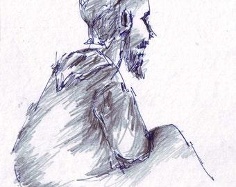 Postcard No. 56 - A jewish religious student in profile