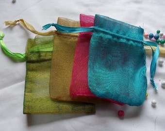 Organza Bags  set of 50 bags 6 x 9inch Sachets handmade soap, bath salt, beads, herbs, favor bag, wedding, sample