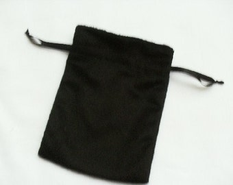 """20 Soft Black Velvet Drawstring Pouch  - 4"""" wide x 5"""" high for stamping -Gift bags, Soaps, candles, beads, jewelery"""