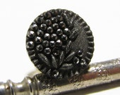 Silver Luster Horticulturalist PLANT LIFE - Unique Antique Carved Button Tie - Ascot - Cravat - Hat - Lapel - Tack / Pin