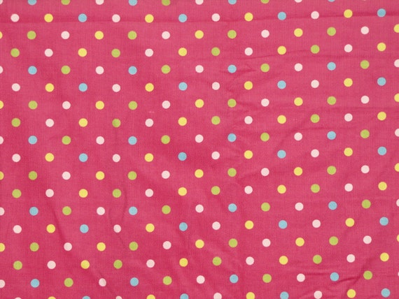 Reserved for Neritina -  Hot Pink Polka Dotted - Robert Kaufman 21 Wale Corduroy