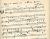 "1946 original Vintage Sheet Music, Frank Sinatra ""You'll Always Be the One I Love"""
