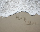 Names in the Sand at the Jersey Shore Beach Writings