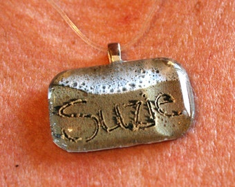 Custom Names on the Jersey Shore Beach Writing Necklace Pendant