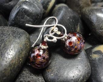 Petite Speckled Venetian Glass Earring