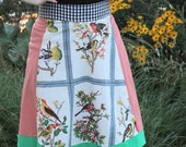 The Birdwatcher. Recycled vintage tablecloth wrap skirt.