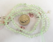 1 Strand or 90 beads of 4mm Green semi precious Prehnite Beads