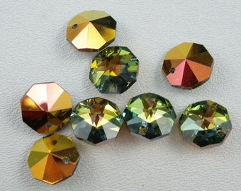 Vintage Rare Swarovski 14mm Golden Sahara Pendants (2)