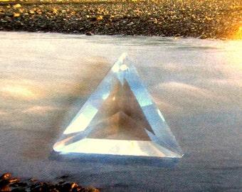 Vintage Swarovski Clear Triangle Pendant 30mm (1)