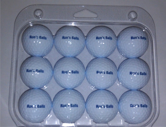 One Dozen Wilson Golf Balls with your personalization Free USA Shipping