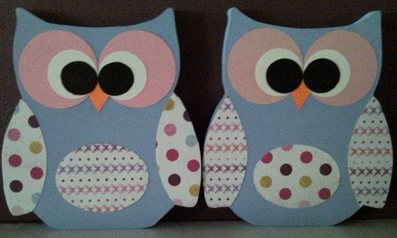 Unfinished Wood Owls