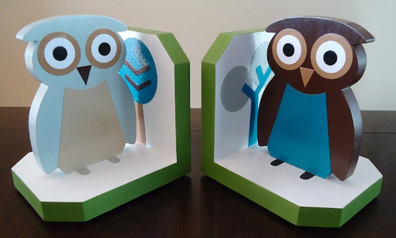 Owls Sky Inspired Bookends