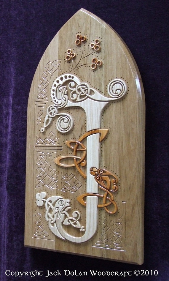 Items Similar To Book Of Kells In Wood Wall Hanging