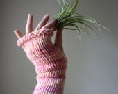 Knitting Pattern / Fingerless Mittens Mitts / Long and Scrunchy / PDF DIGITAL DELIVERY