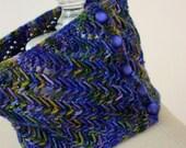 Knitting Pattern / Lace Neckwarmer Cuff / Dappled / PDF Digital Delivery