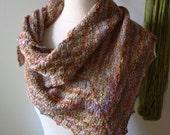 Knitting Pattern / Cheques Checkered Rib Shawlette Kerchief / PDF Digital Delivery