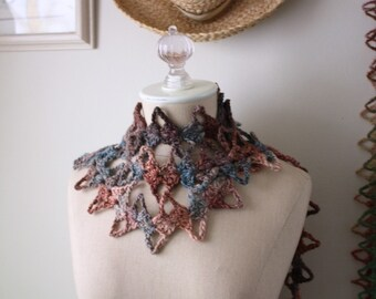Crochet Pattern / Dentelle Contemporary Lace Scarf / PDF DIGITAL DELIVERY