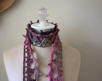 Crochet Pattern / Lace Scarf / Couronne / PDF Digital Delivery