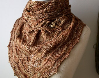 Knitting Pattern / Joyeux Lace Shawlette / DIY Shawl Tutorial / PDF Digital Download