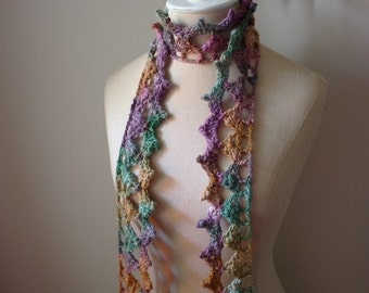 Crochet Pattern / Couronne Contemporary Lace Scarf / PDF Digital Delivery