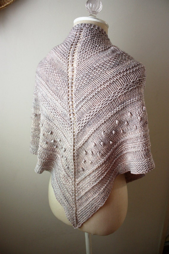 Knitting Patterns For Chunky Weight Yarn : Shawl Knitting Pattern / Chunky Textured Knit DK Weight Yarn / Texelle / PDF ...