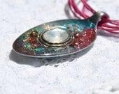 Under the full moon - spoon pendant