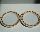 2 Georges Briard Carousel bread plates