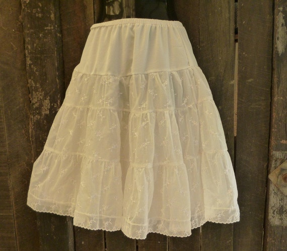 upcycled rocknroll skirt,  50s/ early 60s vintage petticoat, small