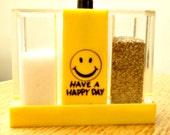 Vintage Salt and Pepper Shaker Happy Face