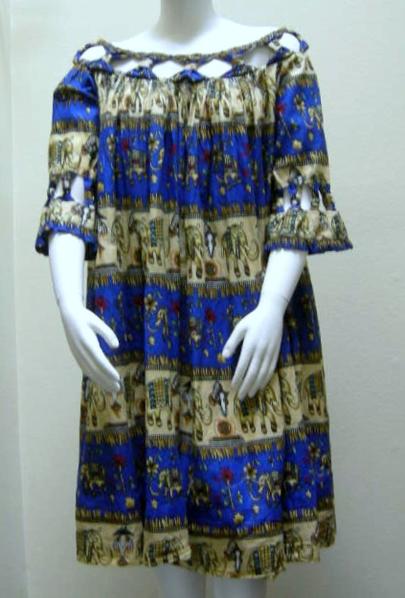 Plus Size African Wax Print Ethnic Dress