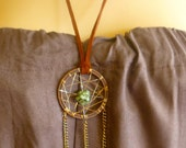 Dreamcatcher Necklace Suede Turquoise