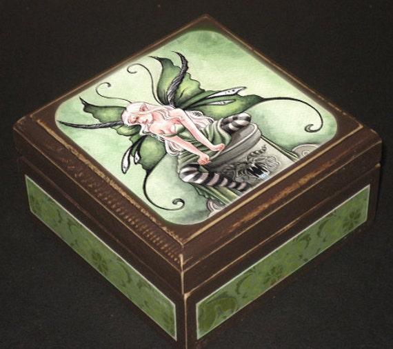 Green Fairy Keepsake Box