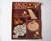 Magic Crochet Magazine, March 1983 issue 24 Vintage Crochet Pattern Booklet, Thread Crochet, Doilies, Doily 25 Patterns,