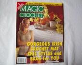 Magic Crochet Magazine, August 2001 issue 133 Crochet Pattern Book, Thread, Doilies, Doily Patterns, Thread Crochet patternss
