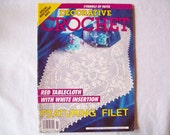 Decorative Crochet Magazine, November 1992 issue 30 Vintage Crochet Pattern Book, Thread, Doilies, Doily Pattern, Thread Crochet pattern