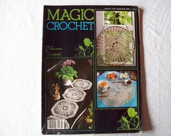 Magic Crochet Magazine, October 1983 issue 27 Vintage Crochet Pattern Book, Thread, Doilies, Doily Patterns, Thread Crochet patternss