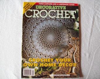 Decorative Crochet Magazine, January 1998 issue 61 Crochet Pattern Book, Thread, Doilies, Doily Patterns, Thread Crochet patterns
