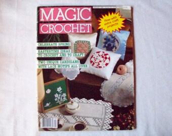 Magic Crochet Magazine, February 1986 issue 40 Vintage Crochet Pattern Book, Doilies, Doily Patterns, Thread Crochet pattern