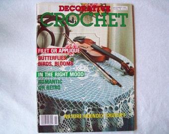 Decorative Crochet Magazine, November 1990 issue 18 Vintage Crochet Pattern Book, Thread, Doilies, Doily Patterns, Thread Crochet pattern