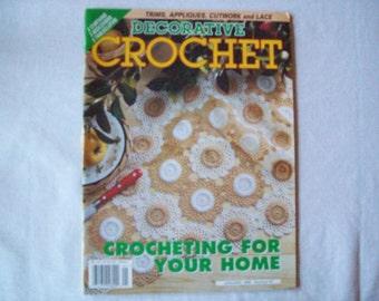 Decorative Crochet Magazine, January 1999 issue 67 Vintage Crochet Pattern Book, Thread, Doilies, Doily Patterns, Thread Crochet pattern