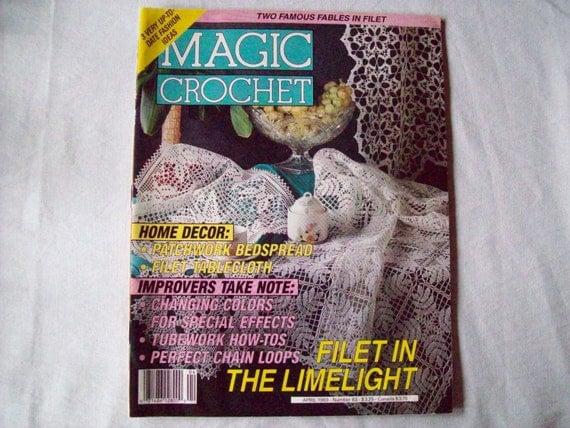 Magic Crochet Magazine, April 1993 issue 83, Crochet Pattern Book, Thread, Doilies, Doily Patterns, Thread Crochet patternss
