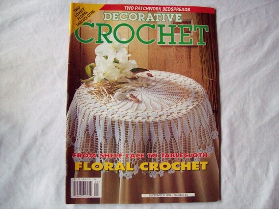 Decorative Crochet Magazine, September 1996 Issue 53 Crochet Pattern Book, Thread, Doilies, Doily Patterns, Thread Crochet patterns