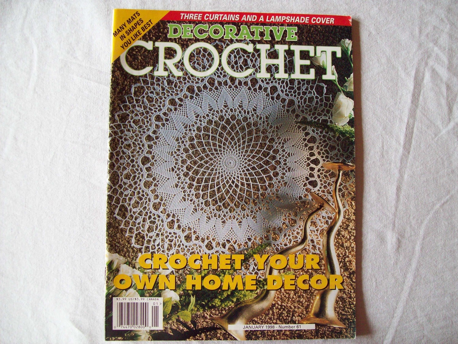 Decorative Crochet : Decorative Crochet Magazine January 1998 issue by CozyHomeCrochet