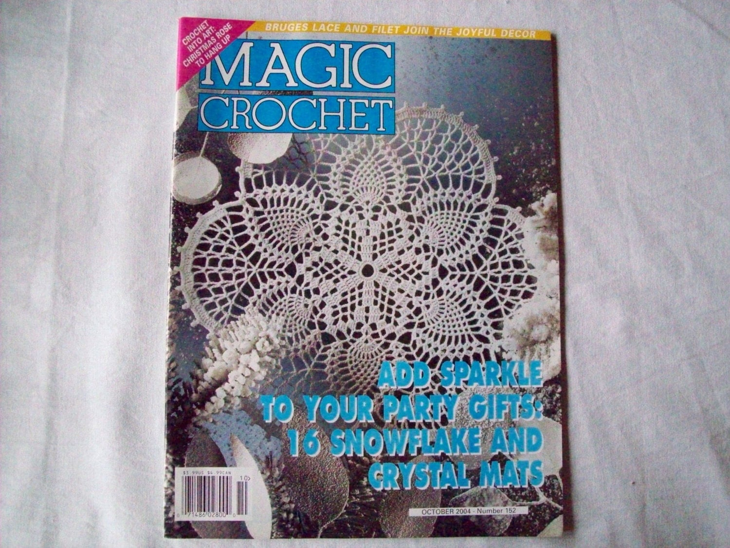 Magic Crochet Magazine : Magic Crochet Magazine October 2004 issue 152 by CozyHomeCrochet