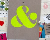 Ampersand Screen Print - Neon Yellow