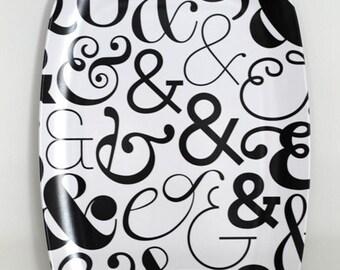 Melamine Platter - Ampersand Pattern