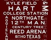 Texas Aggies 20 x 30 Home Decor Gift for Dad Grad Texas A&M